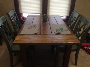 Homemade dining table.